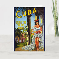 Cuban Dancer Vintage Travel