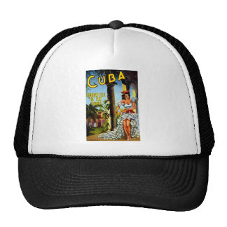 Cuban Dancer Vintage Travel Trucker Hat