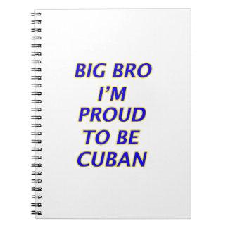 Cuban design spiral notebook