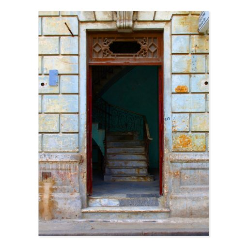 Cuban Door 2 Post Card