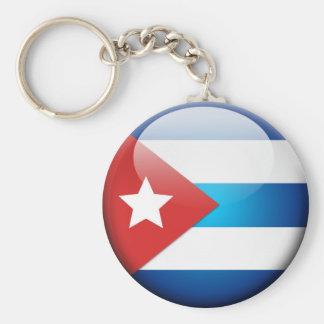 Cuban Flag 2.0 Basic Round Button Keychain