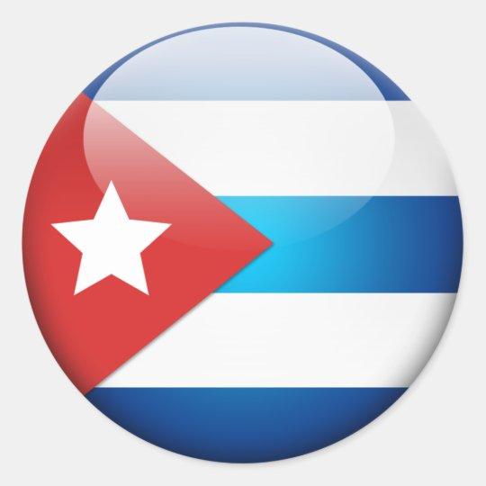 Cuban Flag 2.0 Classic Round Sticker