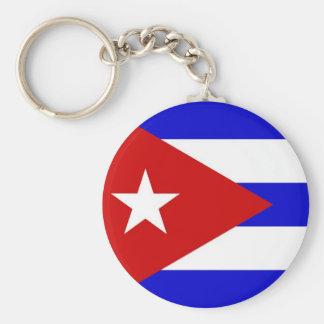 Cuban Flag Basic Round Button Keychain