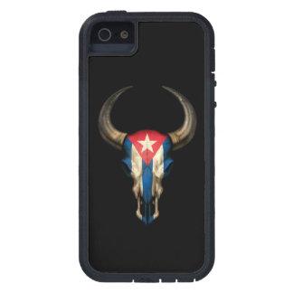 Cuban Flag Bull Skull on Black Case For iPhone SE/5/5s