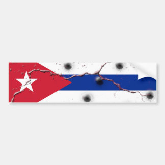 Cuban Flag Bumper Stickers