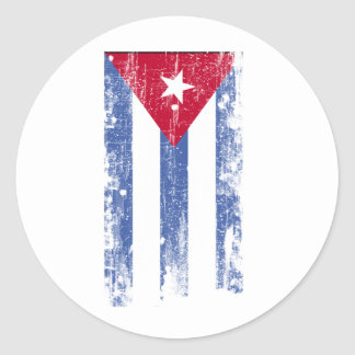 Cuban Flag Classic Round Sticker