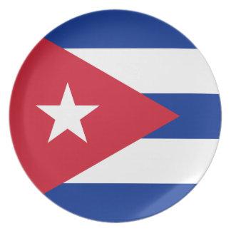 Cuban Flag Dinner Plate