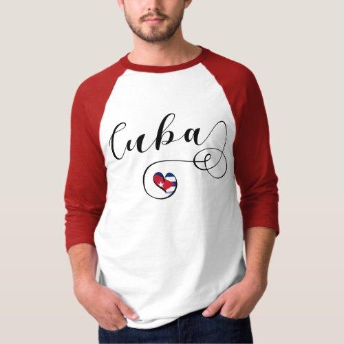 Cuban Flag Heart Flag of Cuba Heart T_Shirt