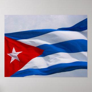 cuban flag poster