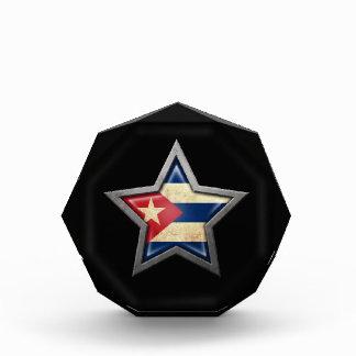 Cuban Flag Star on Black Award
