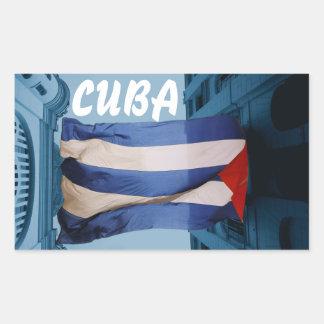 Cuban flag sticker