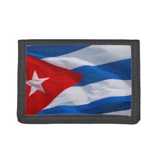 cuban flag tri-fold wallets