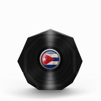 Cuban Flag Vinyl Record Album Graphic Awards