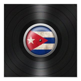 Cuban Flag Vinyl Record Album Graphic Invitation