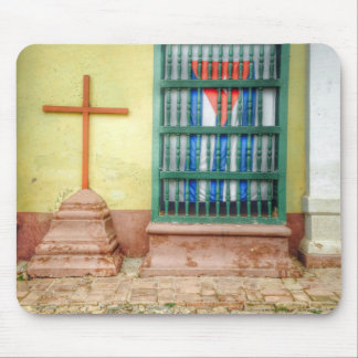 Cuban Flag Window in Trinidad Mouse Pad