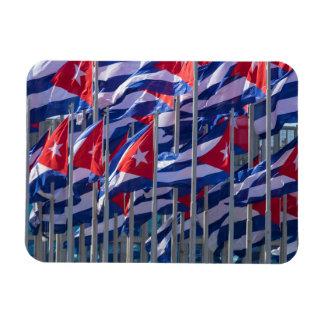 Cuban flags, Havana, Cuba Magnet