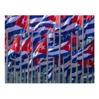 Cuban flags, Havana, Cuba Postcard
