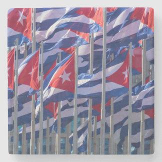 Cuban flags, Havana, Cuba Stone Coaster