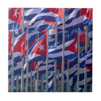 Cuban flags, Havana, Cuba Tile