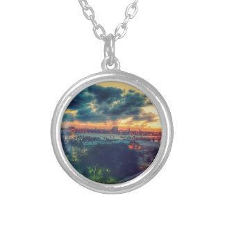 Cuban Freedom Tower in Miami 3 Silver Plated Necklace