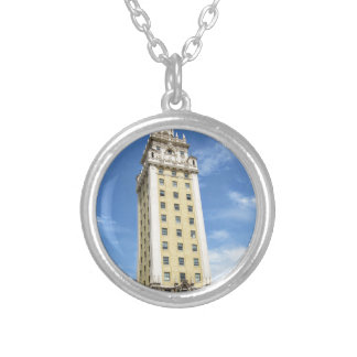Cuban Freedom Tower in Miami 6 Silver Plated Necklace