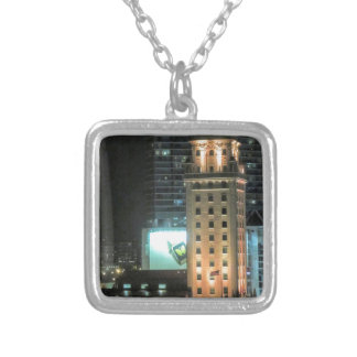 Cuban Freedom Tower in Miami 7 Silver Plated Necklace