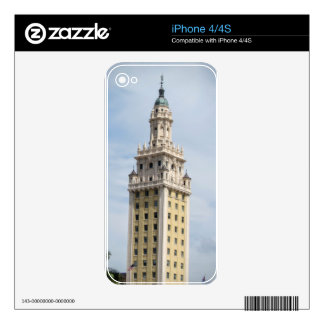 Cuban Freedom Tower in Miami Decals For iPhone 4