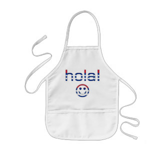 Cuban Gifts : Hello / Hola + Smiley Face Kids' Apron