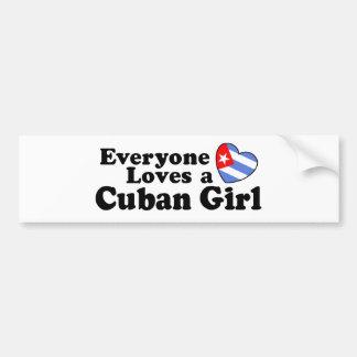 Cuban Girl Bumper Sticker