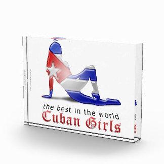 Cuban Girl Silhouette Flag Acrylic Award