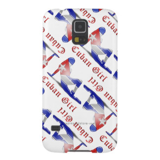 Cuban Girl Silhouette Flag Case For Galaxy S5