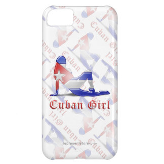 Cuban Girl Silhouette Flag iPhone 5C Cover