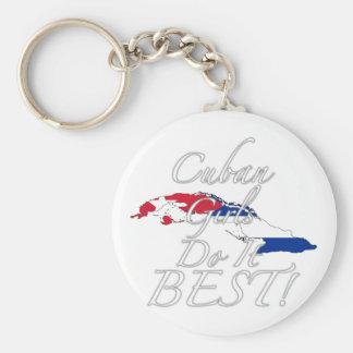 Cuban Girls Do It Best! Basic Round Button Keychain