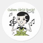 Cuban Girls Rock Classic Round Sticker