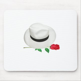 Cuban Hat & Rose Mouse Pad