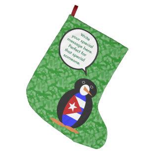 cuban holiday mr penguin large christmas stocking