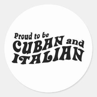 Cuban Italian Classic Round Sticker