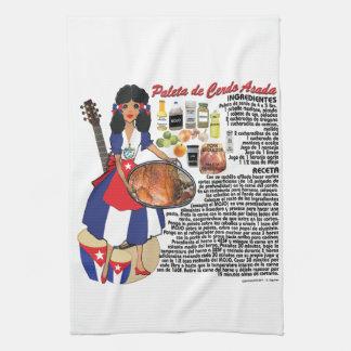 Cuban Kitchen towel- Paleta recipe