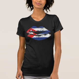 Cuban Lips tank top design for women.