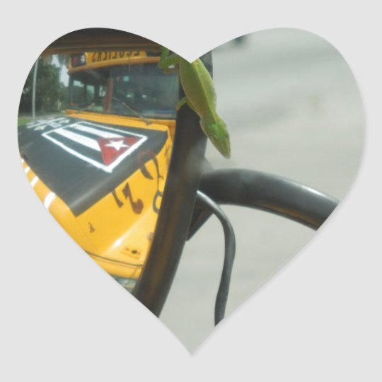 Cuban Lizard Heart Sticker