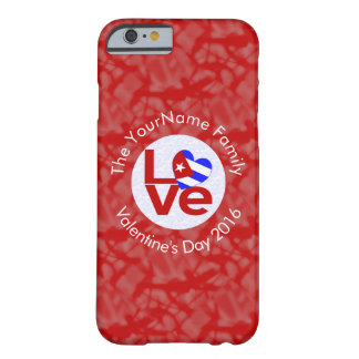 Cuban LOVE White on Red Barely There iPhone 6 Case