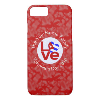 Cuban LOVE White on Red iPhone 7 Case