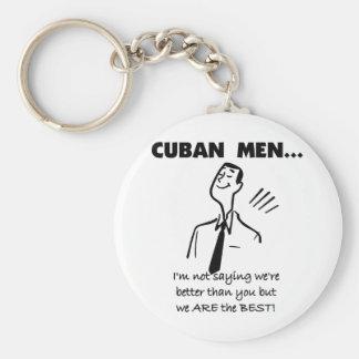 Cuban Men Are Best Basic Round Button Keychain