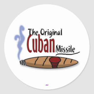 Cuban Missile Classic Round Sticker