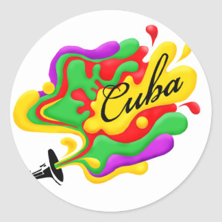 Cuban Music Classic Round Sticker