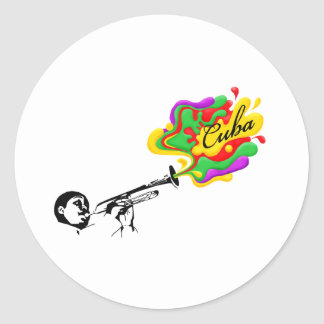 Cuban Music Classic Round Sticker