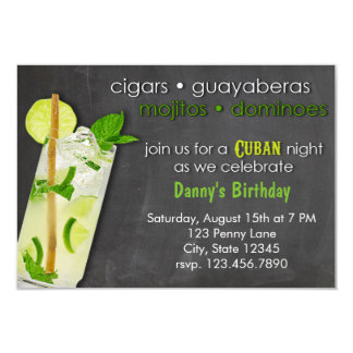 Cuban Night Mojito Party Card