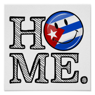 Cuban Pride Smiling Flag House Warmer Poster