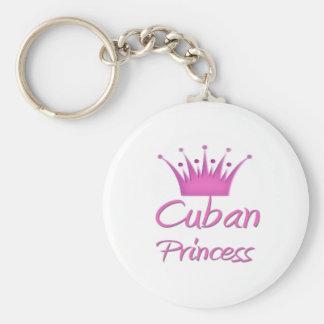 Cuban Princess Basic Round Button Keychain