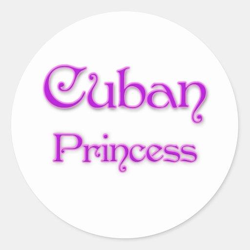 Cuban Princess Classic Round Sticker